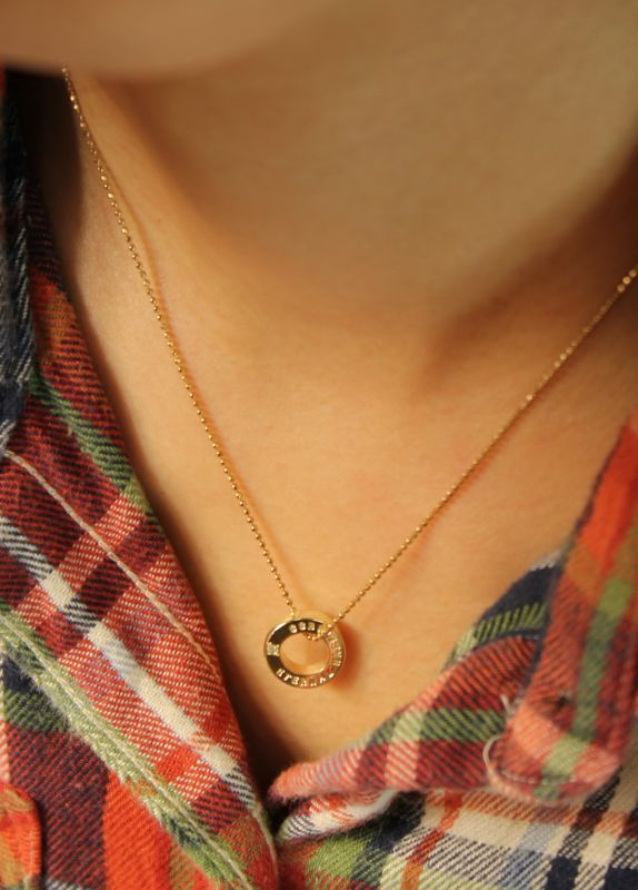 オリジナル10金ネックレス着用例